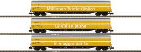 MINITRIX 15799 Großraumschiebewandwagen-Set 3-tlg. Habbiillnss Post SBB | Spur N kaufen