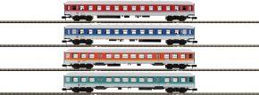 MINITRIX 15806 Personenwagen-Set 4-tlg. Neue Farben DB | Spur N kaufen