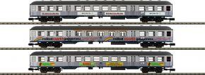 MINITRIX 18213 Personenwagen-Set 3-tlg. Silberlinge mit Werbung DB | Spur N kaufen