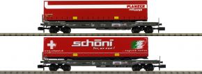MINITRIX 18706 Taschenwagen-Set 2-tlg. HUPAC | Spur N kaufen