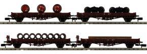 MINITRIX 18707 Niederborgwagen-Set DB   Spur N kaufen