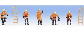NOCH 15022 Feuerwehr in orangefarbenen  Schutzanzug 5 Figuren Spur H0 kaufen