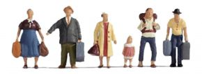 NOCH 15218 Reisende | 6 Miniaturfiguren | Spur H0 kaufen