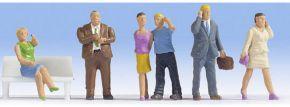 NOCH 15574 Menschen mit Handy | 6 Miniaturfiguren | Spur H0 kaufen