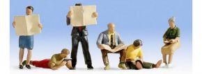 NOCH 15575 Lesende | 6 Miniaturfiguren | Spur H0 kaufen