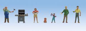 NOCH 36593 Beim Grillen | 6 Miniaturfiguren | Spur N kaufen