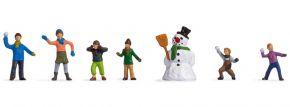 NOCH 15821 Kinder im Schnee | 7 Stück | Figuren Spur H0 kaufen