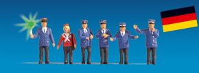 NOCH 17540 Bahnpersonal beleuchtet, 5 Figuren + 1 Figur mit LED Spur H0 kaufen