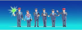 NOCH 17542 Bahnbeamte Österreich beleuchtet   6 Miniaturfiguren   Spur H0 kaufen