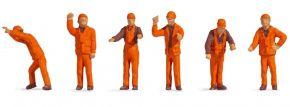 NOCH 18011 Rangierpersonal | 6 Stück | Figuren Spur H0 kaufen