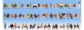 NOCH 18402 Mega Spar-Set Sitzende Personen ohne Bänke | 60 Stück | Figuren Spur H0 kaufen
