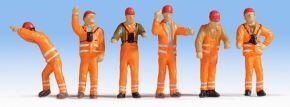 NOCH 36275 Rangierpersonal | 6 Miniaturfiguren | Spur N kaufen