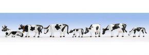 NOCH 36721 Kühe | schwarz-weiß gefleckt | 9 Miniaturfiguren | Spur N kaufen