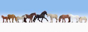 NOCH 36761 Pferde | 9 Miniaturfiguren | Spur N kaufen