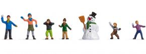 NOCH 36821 Kinder im Schnee | 7 Stück | Figuren Spur N kaufen