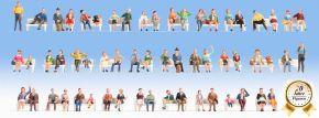 NOCH 16071 Mega Spar-Set Sitzende Personen ohne Bänke | 60 Stück | Figuren Spur H0 kaufen