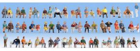 NOCH 38402 Sitzende Figuren | 60 Stück Miniaturfiguren | MEGA-Spar Set Spur N kaufen