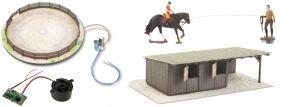 NOCH 66717 micro-motion Reitplatz mit Pferde-Boxen   Bausatz Spur H0 kaufen