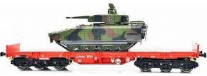 NPE 22134 Schwerlastwagen Salmms-u 454 mit Puma DB AG | DC | Spur H0 kaufen