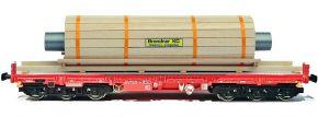 NPE 22140 Schwerlastwagen Salmms DB AG | mit Beladung Walze | DC | Spur H0 kaufen