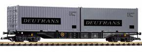 PIKO 37752 Containertragwagen mit 2 Containern Deutrans DR | Spur G kaufen