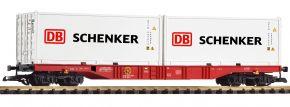 PIKO 37753 Containertragwagen mit 2 Containern DB AG | Spur G kaufen