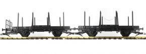 PIKO 37780 Drehschemelwagen-Set 2-tlg. DR | Spur G kaufen