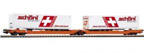 PIKO 54776 Taschenwagen T3000e mit 2 Schöni Aufliegern | Wascosa | DC | Spur H0 kaufen