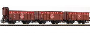 PIKO 58339 Ged. Güterwagen-Set 3-tlg. SPA Monopole SNCB | DC | Spur H0 kaufen