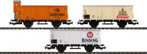PIKO 58364 3er Set Bierwagen Brauereien aus Frankfurt DB | DC | Spur H0 kaufen