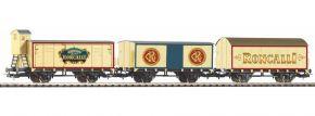 PIKO 58374 3er Set Güterzug Zirkus Roncalli DB | Spur H0 kaufen