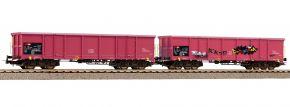 PIKO 58393 2-tlg. Set Offene Güterwagen Eaos SBB | DC | Spur H0 kaufen