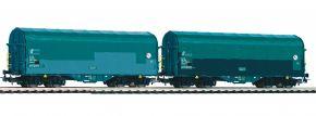 PIKO 58397 2-tlg. Set Schiebeplanenwagen Shimmns Mercitalia FS | DC | Spur H0 kaufen