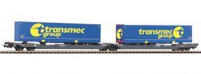 PIKO 58971 Taschenwagen T3000e Container Transmeg | DC | Spur H0 kaufen