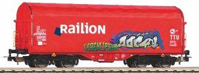 PIKO 58981 Schiebeplanenwagen Railion NS mit Graffiti | DC | Spur H0 kaufen