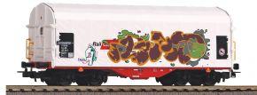 PIKO 58982 Schiebeplanenwagen Rail Cargo Austria mit Graffiti | DC | Spur H0 kaufen