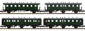 PIKO 94343 Personenwagen-Set 4-tlg. 2./3.Kl. SBB | Spur N kaufen