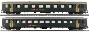 PIKO 96790AC 2er Set EW I-Personenwagen grün SBB | AC | Spur H0 kaufen