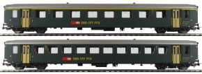 PIKO 96790 2er Set EW I-Personenwagen grün SBB | DC | Spur H0 kaufen