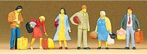 Preiser 10114 Wartende Reisende Figuren Spur H0 kaufen