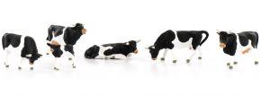 Preiser 10145 Kühe | schwarz gefleckt | Miniaturfiguren Spur H0 kaufen