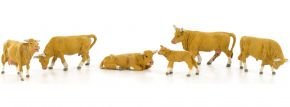 Preiser 10147 Kühe   hellbraun   6 Miniaturfiguren Spur H0 kaufen