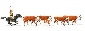Preiser 10159 Langhornrinder Cowby zu Pferd | Figuren Spur H0 kaufen