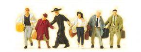 Preiser 10327 Laufende Reisende | 6 Stück | Figuren Spur H0 kaufen