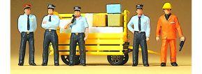 Preiser 10372 Rhätisches Bahnpersonal 5 Figuren mit Zubehör Fertigmodell 1:87 kaufen