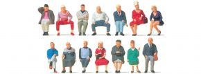 Preiser 10524 Sitzende Reisende | 14 Figuren | Miniaturfiguren Spur H0 kaufen