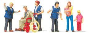 Preiser 10534 Bahnhofsmission   6 Figuren   Miniaturfiguren Spur H0 kaufen