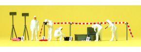 Preiser 10576 Kriminalbeamte Spurensicherung | 5 Stück Miniaturfiguren + Zubehör | Spur H0 kaufen
