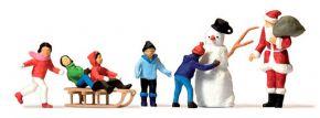 Preiser 10626 Weihnachtsmann Kinder Schneemann Figuren Fertigmodell 1:87 kaufen