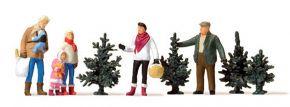 Preiser 10627 Weihnachtsbaumverkauf 5 Figuren mit Zubehör 1:87 kaufen